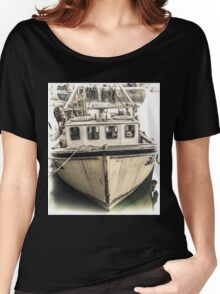 Yellow Fishing Boat - Cornwall Women's Relaxed Fit T-Shirt