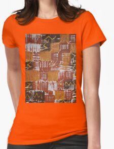Braune Strukturen Womens Fitted T-Shirt