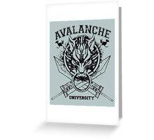 Avalanche University FVII v2 Greeting Card