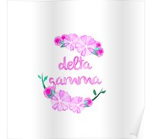 Delta Gamma Flower Wreath Poster