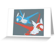 Latias and Latios - Eon Greeting Card