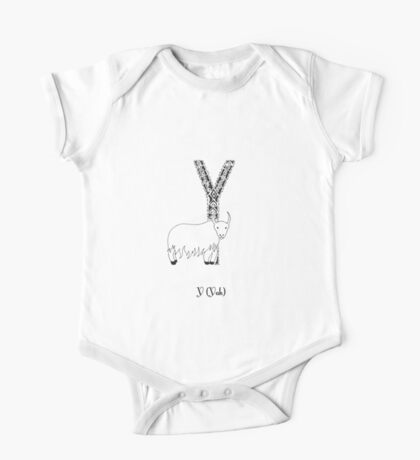 Y is for Yak One Piece - Short Sleeve