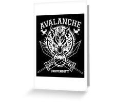 Avalanche University FVII Greeting Card