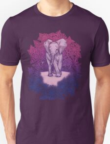 Cute Baby Elephant in pink, purple & blue Unisex T-Shirt
