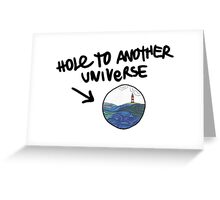 Hole To Another Universe Lighthouse Greeting Card