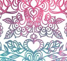 Ombre Folk Art Doodle Sticker