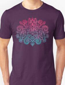 Ombre Folk Art Doodle Unisex T-Shirt