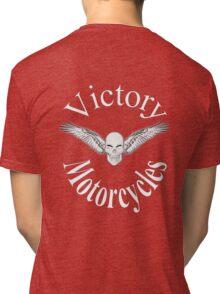 Victory motorcycle vampire skull t-shirt Tri-blend T-Shirt