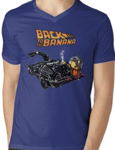 Back To The Banana v2 Mens V-Neck T-Shirt