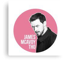 James Mcavoy Sticker Canvas Print