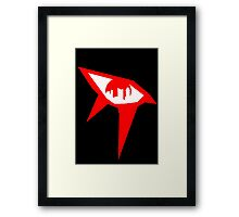 Mirror's Edge - Red Framed Print