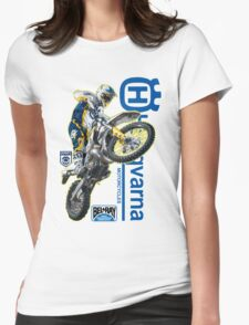 Husqvarna rider Womens Fitted T-Shirt