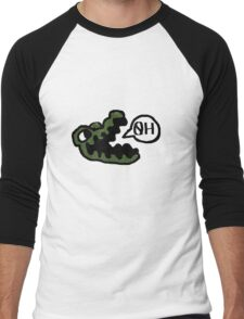 gator made out of tiny peppers Men's Baseball ¾ T-Shirt
