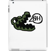 gator made out of tiny peppers iPad Case/Skin