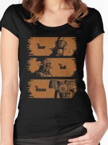 The Bear, The Bull, The House Women's Fitted Scoop T-Shirt