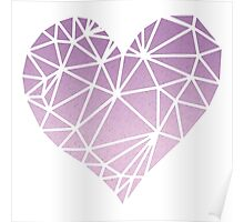 Shattered Heart - Purple/Pink Poster