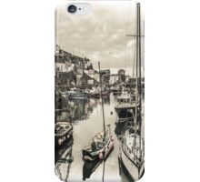 Boats in a Village Harbour - Cornwall iPhone Case/Skin