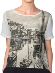 Boats in a Village Harbour - Cornwall Chiffon Top
