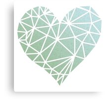 Shattered Heart - Green/Blue Canvas Print