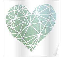 Shattered Heart - Green/Blue Poster