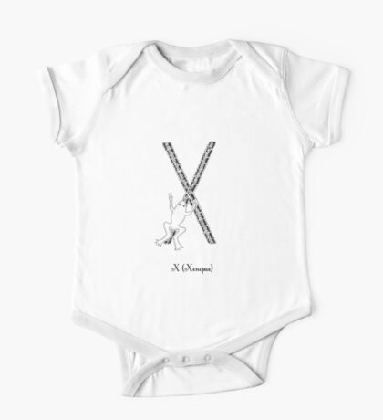 X is for Xenopus One Piece - Short Sleeve