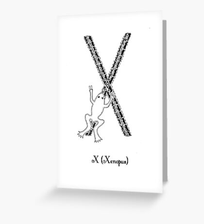X is for Xenopus Greeting Card