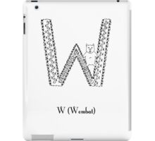 W is for Wombat iPad Case/Skin