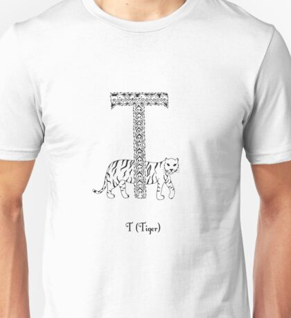 T is for Tiger Unisex T-Shirt