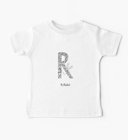 R is for Rabbit Baby Tee