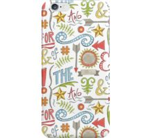 hand drawn typographic elements iPhone Case/Skin