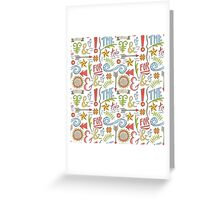 hand drawn typographic elements Greeting Card