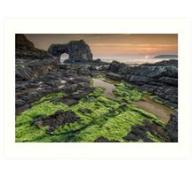 Pollet Great Sea Arch - Fanad Co Donegal Art Print