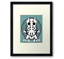 Hockey Mask Bull Terrier Sprawl  Framed Print