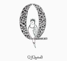 Q is for Quetzal Kids Tee