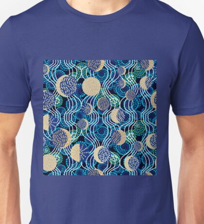 Moon reflection in the water.  Unisex T-Shirt