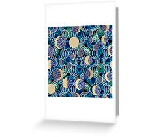 Moon reflection in the water.  Greeting Card