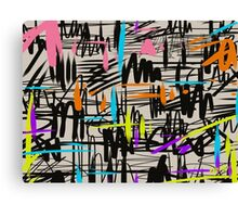 Playful scribbles Canvas Print