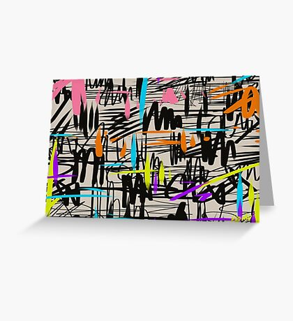 Playful scribbles Greeting Card