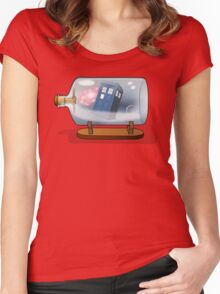 Tardis in a bottle Women's Fitted Scoop T-Shirt