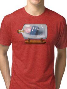 Tardis in a bottle Tri-blend T-Shirt