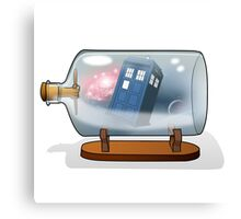 Tardis in a bottle Canvas Print