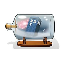 Tardis in a bottle Photographic Print