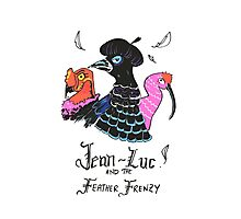 Jean-Luc and the Feather Frenzy Photographic Print