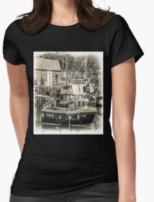 Fishing Boat - Cornwall Womens Fitted T-Shirt