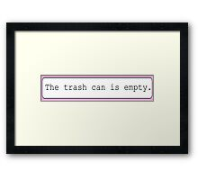 The trash can - Pink Framed Print