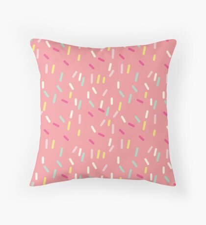 Sprinkles in Pink Throw Pillow