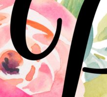 Floral Monogram P Sticker