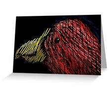 Abstract Bird Greeting Card