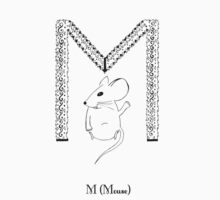M is for Mouse One Piece - Long Sleeve