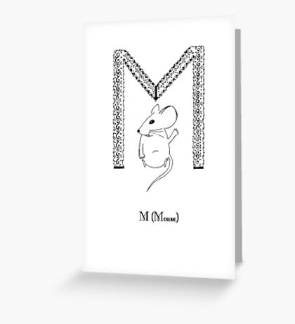 M is for Mouse Greeting Card